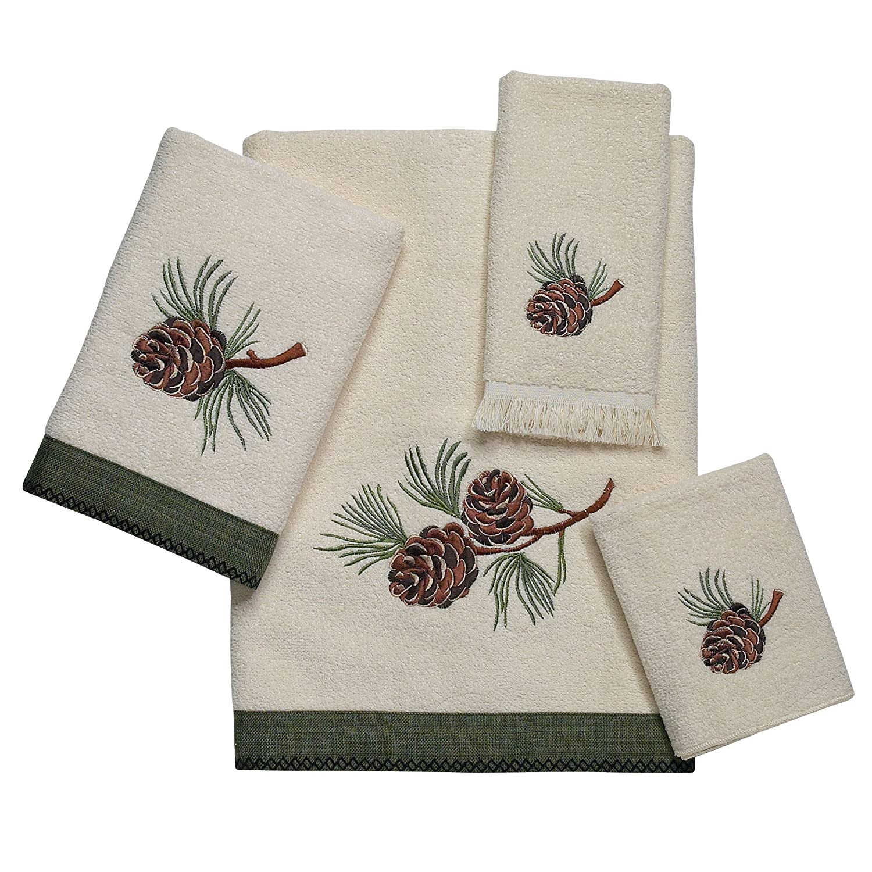 (4-Piece towel set) - Avanti Linen Towel Set PINE CREEK (B,H,W,T) KIT B007Q35UVS