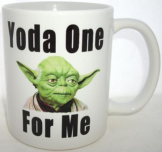 Yoda Best Girlfriend Boyfriend Valentine Mug (Black One For Me Text)