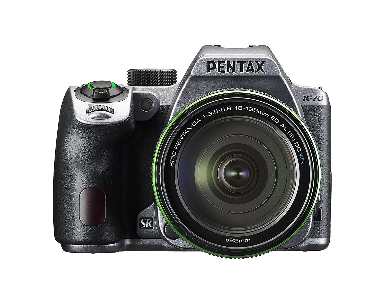 Pentax K-70 Weather-Sealed DSLR Camera with 18-135mm Lens (Silver)