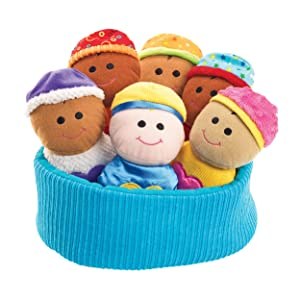 Excellerations Plush Basket of Sensory Baby Dolls–Includes Basket,6SoftMulticulturalBabies –Perfect for Infants,Toddlers in Daycareor Home –Tactile Fabric and Sounds for Engaging Sensory Play