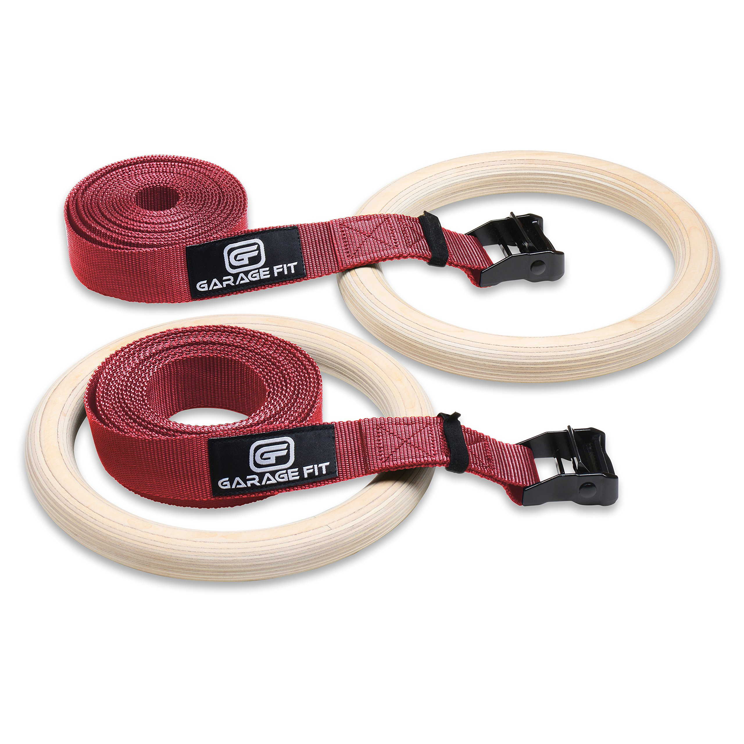 gymnastic straps heavy duty buckle itm exercise rings olympic wood w thick
