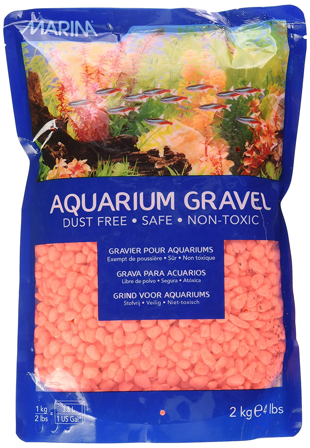 Marina Décoration Gravier pour Aquariophilie Orange 2 kg 12464