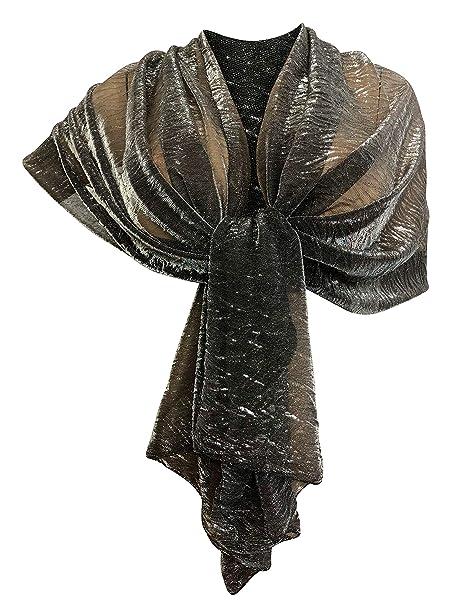 915ce8c22 LTP Brillante Elegante SCIARPA Metallizzata Scialle Foulard,da Donna  Ragazza Coprispalle Stola Cerimonia 14 Colori