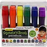 ELMERS Painters Squeeze 'n Brush Washable Tempera Paint Brushes, 12 Set, Assorted Colors (E114)