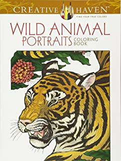 Creative Haven Wild Animal Portraits Coloring Book Adult