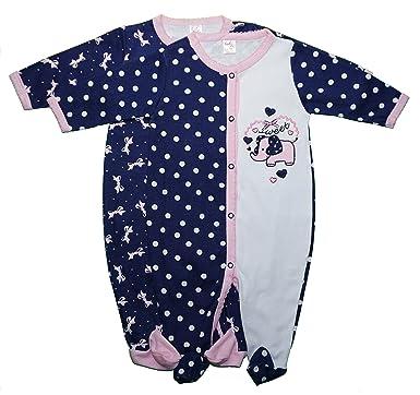 63e82f149035 Funny Cute Baby Girls Novelty Sleep N  Play Footed Sleepers