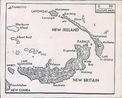 Amazon Com Vintage Photos 1943 Photo Ww2 Era New Britain Map Allies