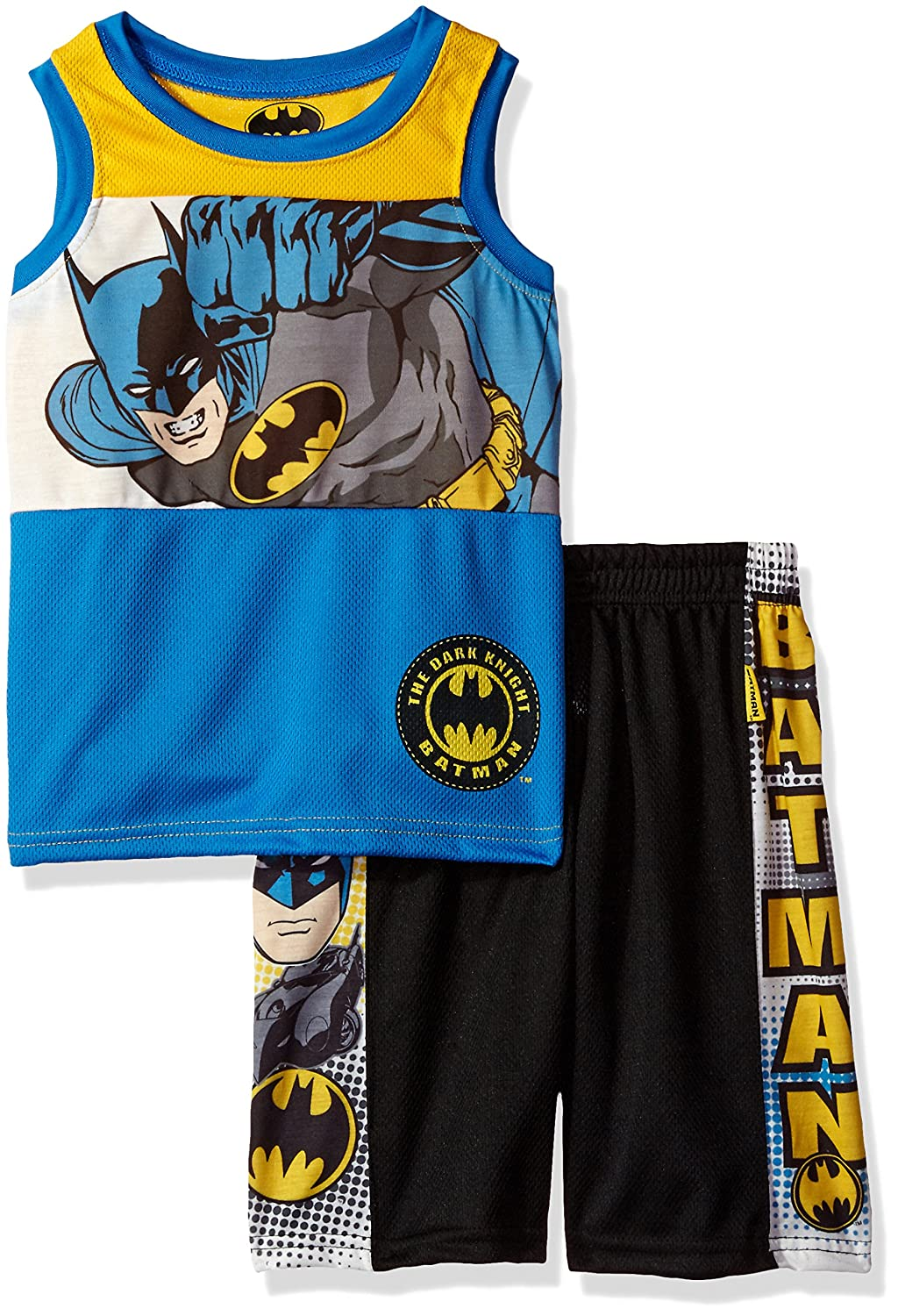 Warner Brothers Boys' 2 Piece Batman Tank and Short Set 6WB5