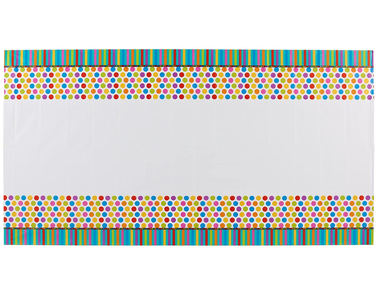 American Greetings 8 Count Party Supplies Dots and Stripes 10 Square Plate Teal Amscan 048419949015