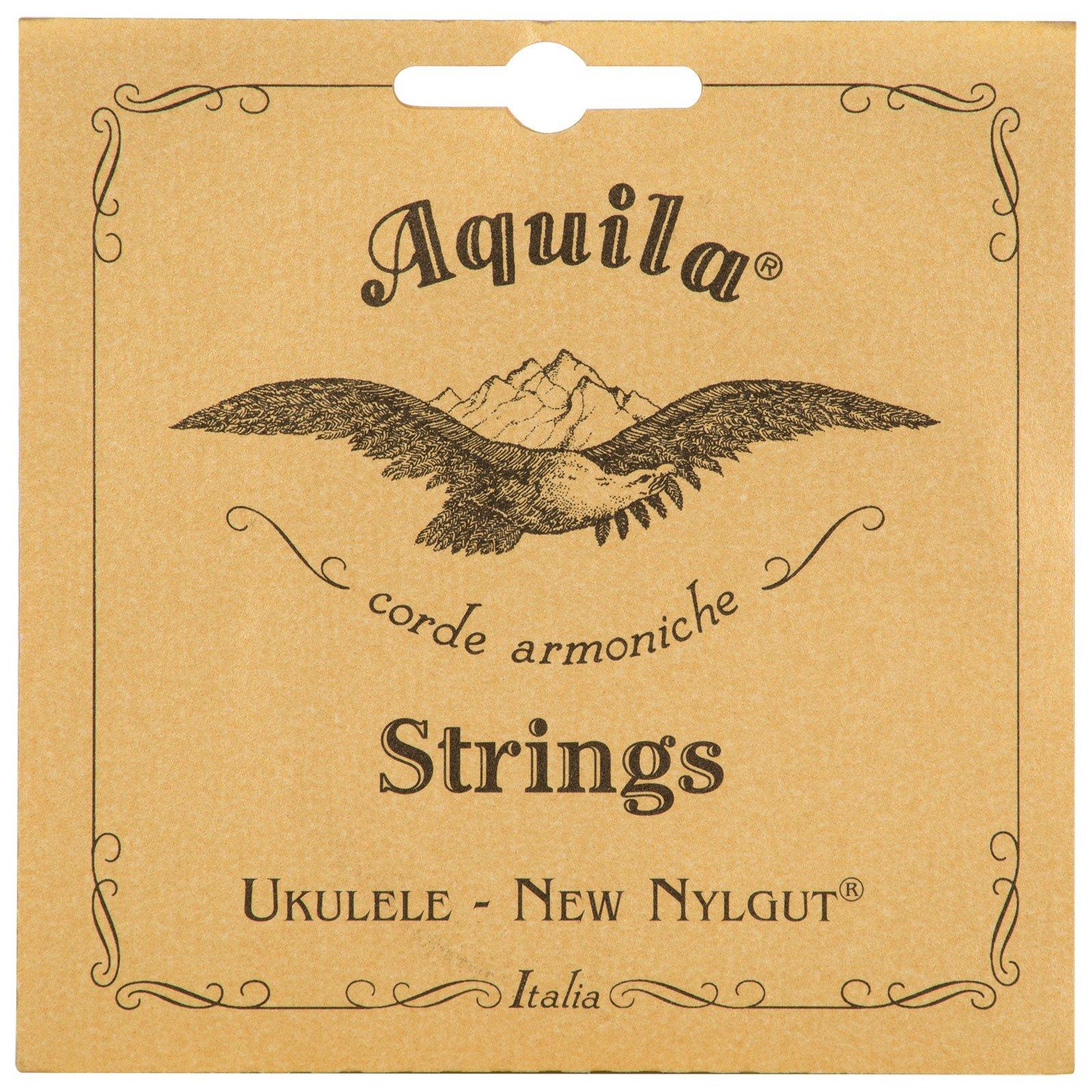 Aquila New Nylgut AQ-28 Banjo Ukulele Strings - Wound High G - 1 Set of 4
