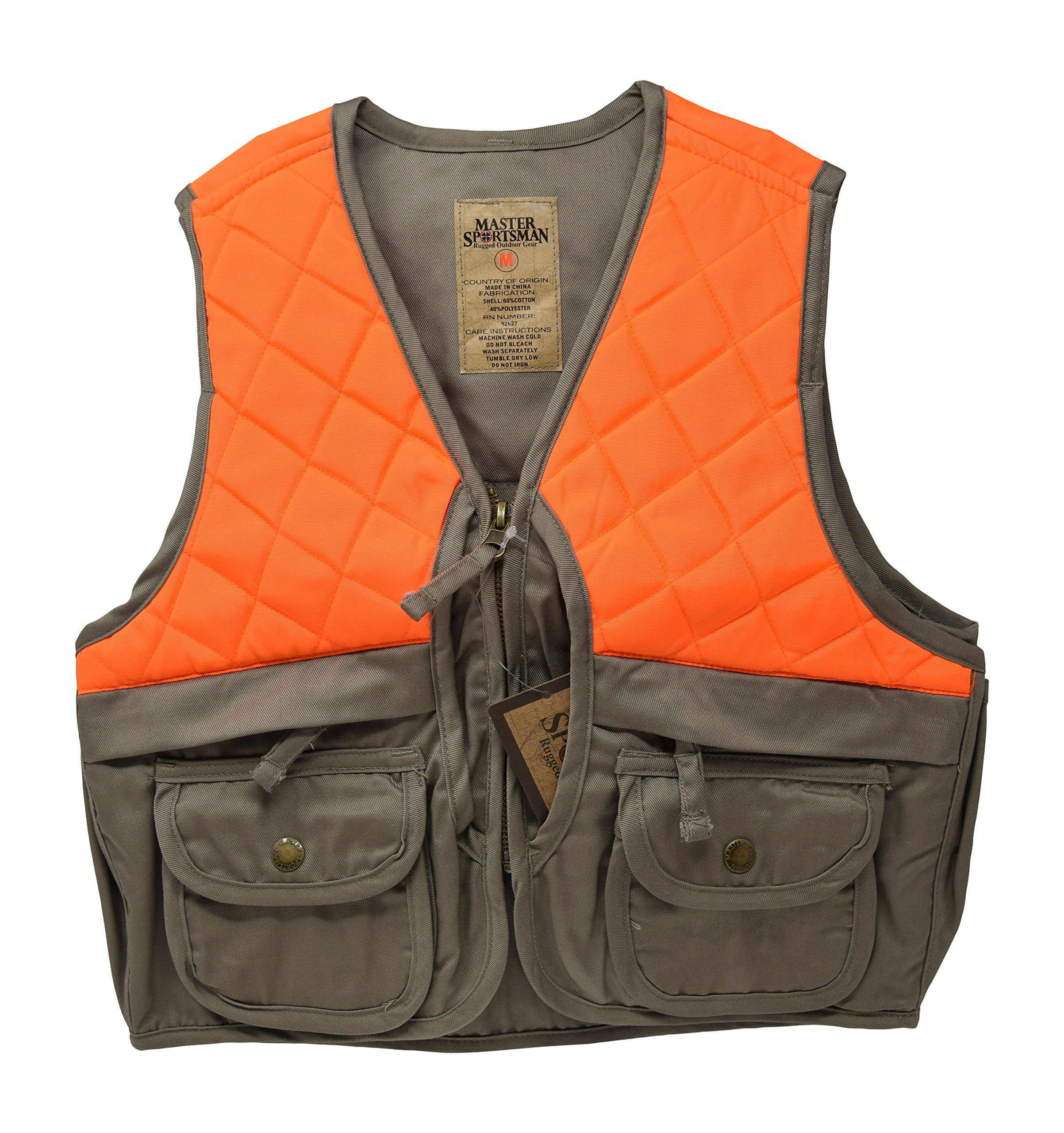 Nickanny's Sportsman Blaze Orange and Tan Youth Kids Field Shell Hunting Vest (Tan/Blaze, Large (10-12)) by Nickanny's
