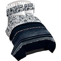 Marvel Avengers Estilo de Vida Stripe Reversible Comforter, Queen/King
