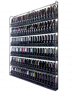 Amazon mygift metal nail polish mountable 6 tier organizer pana black 6 tier large wall mounted metal rack fit up to 100 nail polish solutioingenieria Gallery