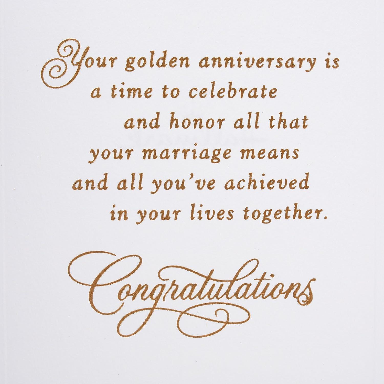 Amazon Hallmark 50th Anniversary Card Golden Wedding