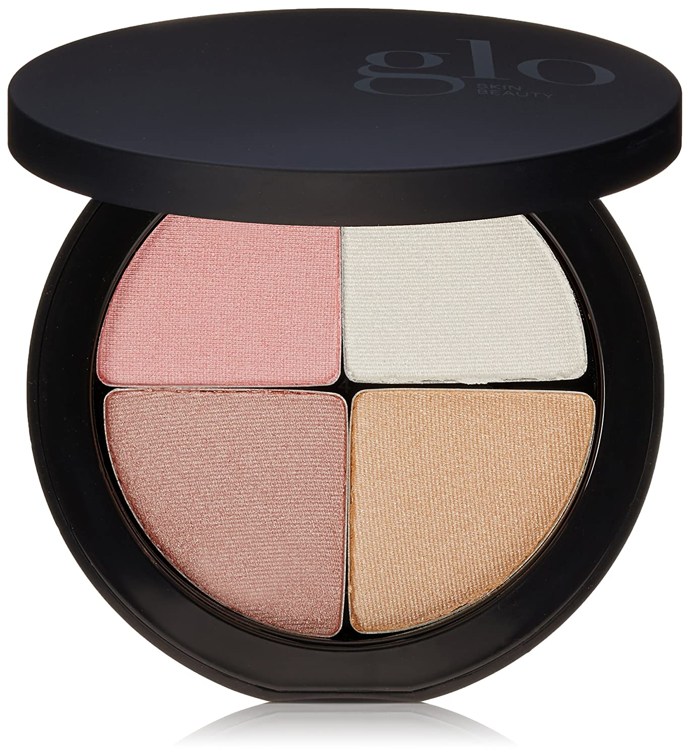 glo Skin Beauty Shimmer Brick Face Highlighter Mineral Makeup Palette, 4 Colors, 2 Shades, Cruelty Free, Luster, 0.3 Oz Glo Minerals GLO1151