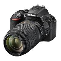 Nikon D5500 + Nikkor 18-55 VR II + 55-300 VR, Fotocamera Reflex Digitale, 24,2 Megapixel, LCD Touchscreen Regolabile, Wi-Fi, SD 8GB 200x Premium Lexar, Nero [Nital card: 4 anni di garanzia]