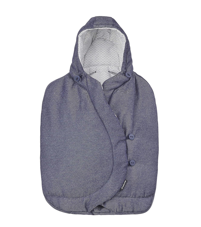 Bambiniwelt Cabrio Fix con lana a tinta unita XX gufo $1 sacco nanna invernale per ovetto Maxi-Cosi