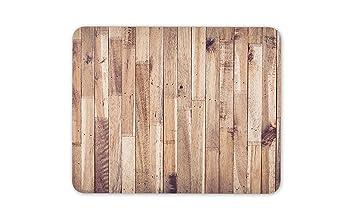 Los tablones de madera alfombrillas de ratones Cojín: Amazon ...