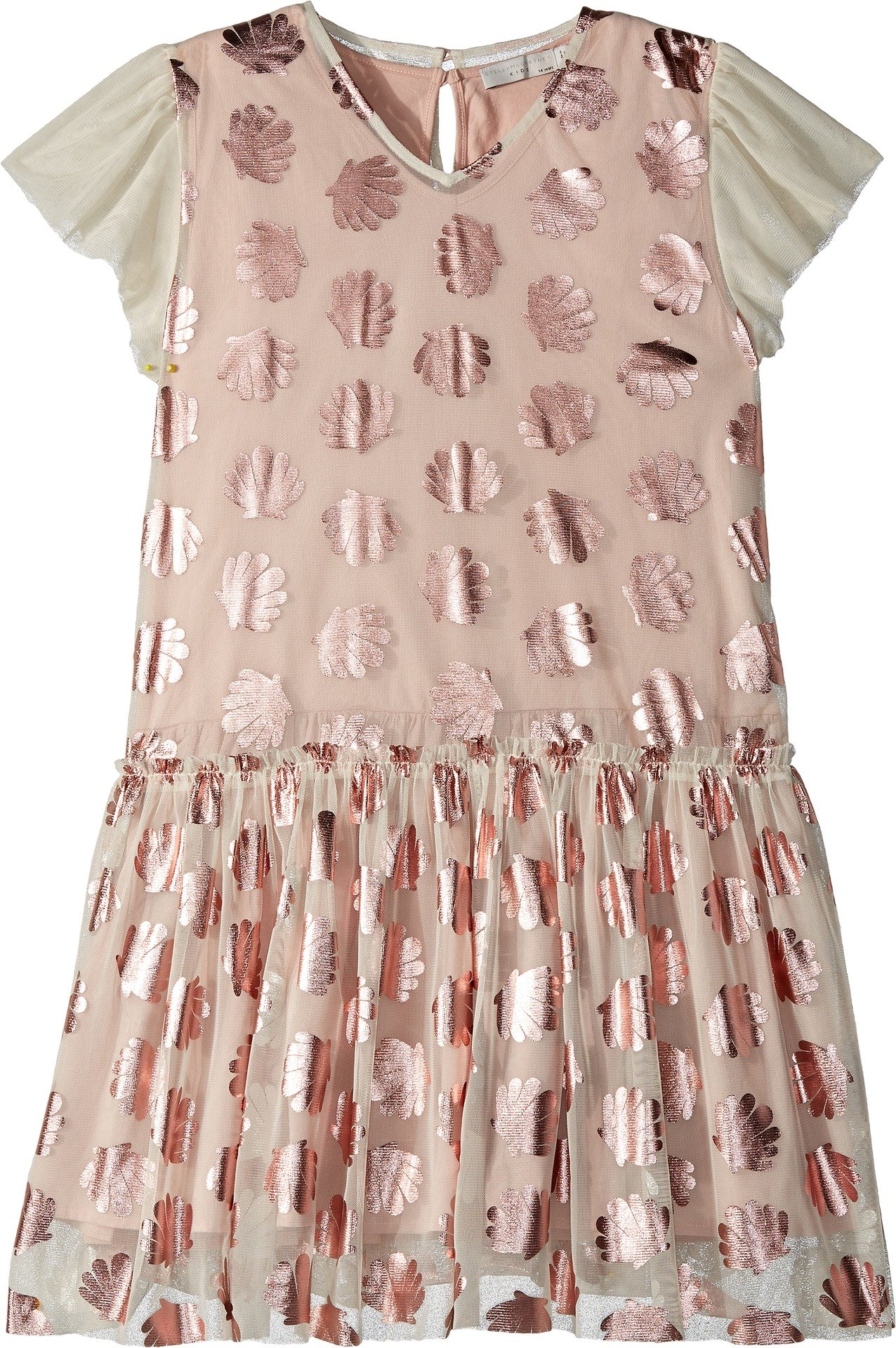 Stella McCartney Kids Baby Girl's Bellie Tulle Dress w/Metallic Seashells (Toddler/Little Kids/Big Kids) Pink 8