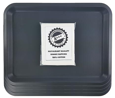 IKEA fungera cena bandeja Family Pack [Set de 4 bandejas] [gris/gris oscuro] para desayuno, almuerzo, almuerzo, cena, y partes: Amazon.es: Hogar
