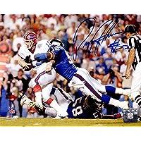 $45 » Pepper Johnson Signed New York Giants Super Bowl XXV Sacking Jim Kelly 8x10 Photo