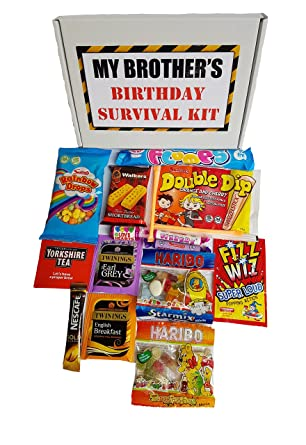 My Brothers Birthday Survival Kit A Fun And Tasty Gift Present For Brother To