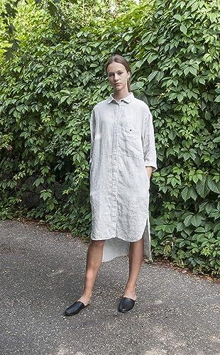 ebc3d1fcdc7 Linen tunic tunic dress shift dress grey tunic tunic