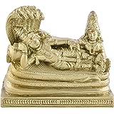 SAIHARSHINIIdol of Lord Vishnu with Lakshmi Resting Under Hood of Shesha Naag