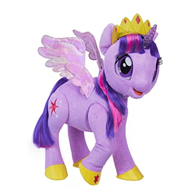 My Little Pony Movie Toy: Magical Princess Twilight Sparkle Interactive Plush - Says 90+ Phrases: Toys & Games