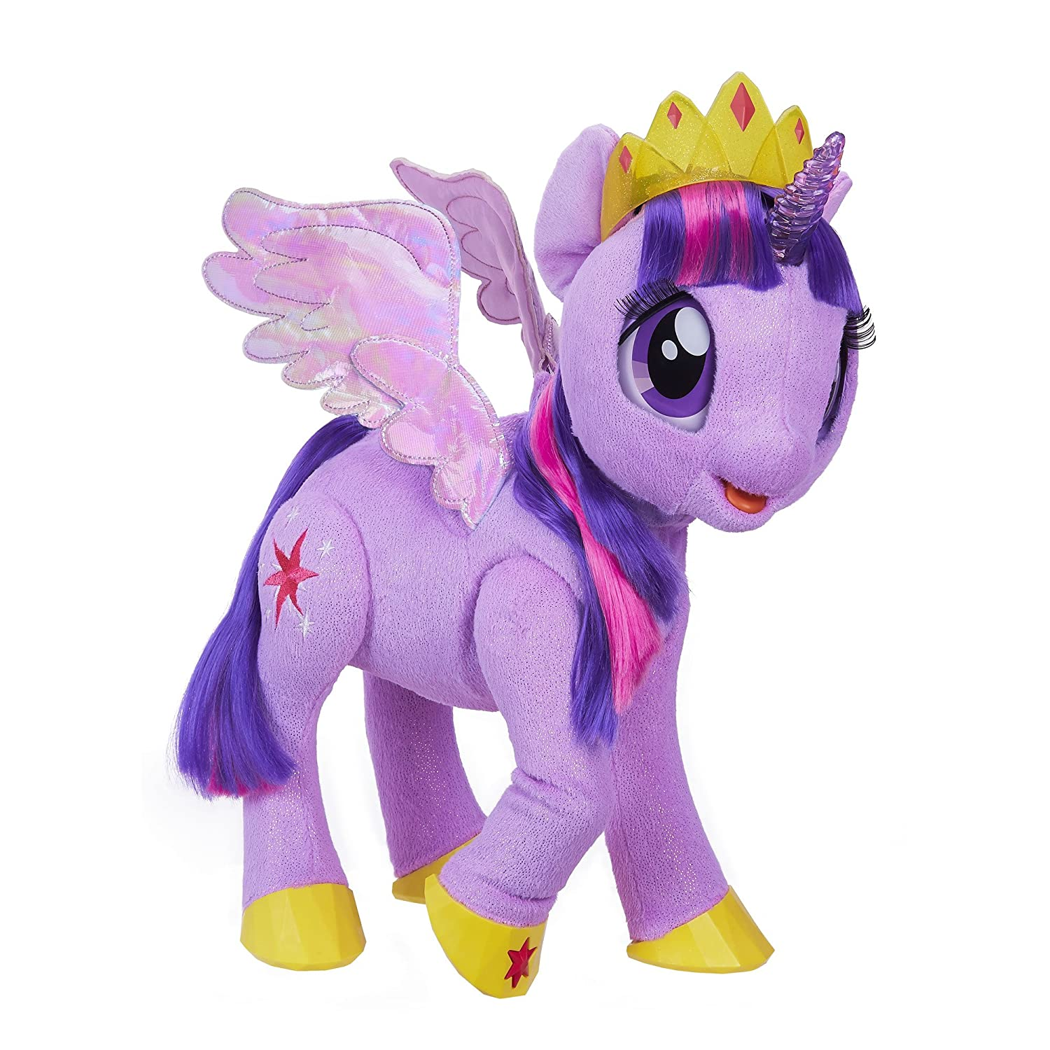 My Little Pony C0299S01 Toy Talking & Singing Twilight Sparkle, Soft Interactive Purple Unicorn with Wings, Kids Ages 3 & Up.