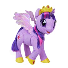 My Little Pony Toy Talking & Singing Twilight Sparkle, Soft Interactive Purple Unicorn with Wings, Kids Ages 3 & Up