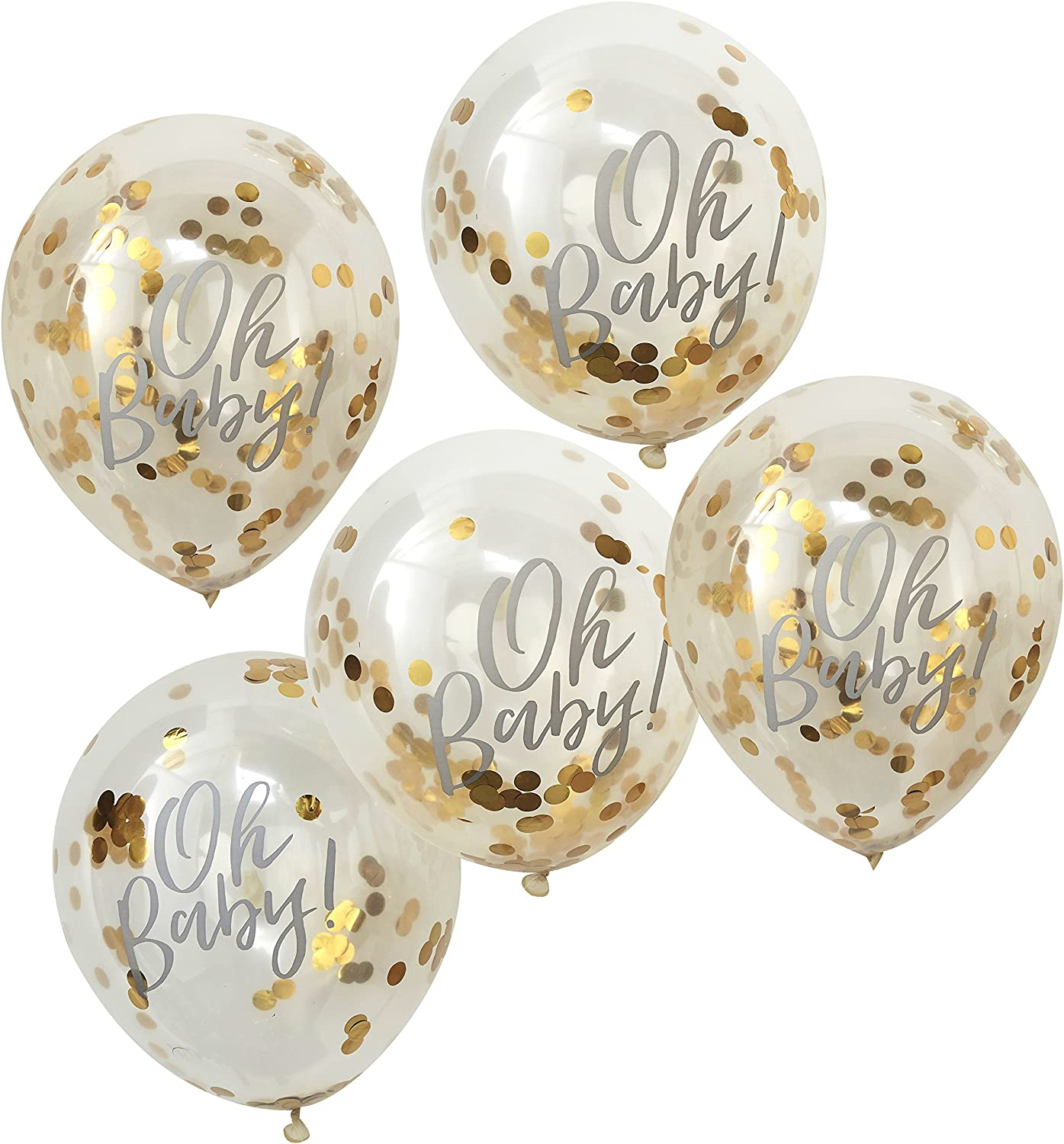 Great for Various Themed Parties 10-Pack We Love Sundays Gold Confetti Paper Plates