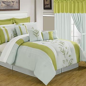 Lavish Home 66-00012-24pc-Q 24-Piece Room-in-a-Bag Maria Bedroom Set, Queen