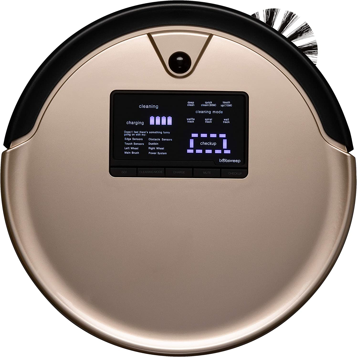 Bobsweep Pethair Plus Robotic Vacuum Cleaner And Mop Champagne