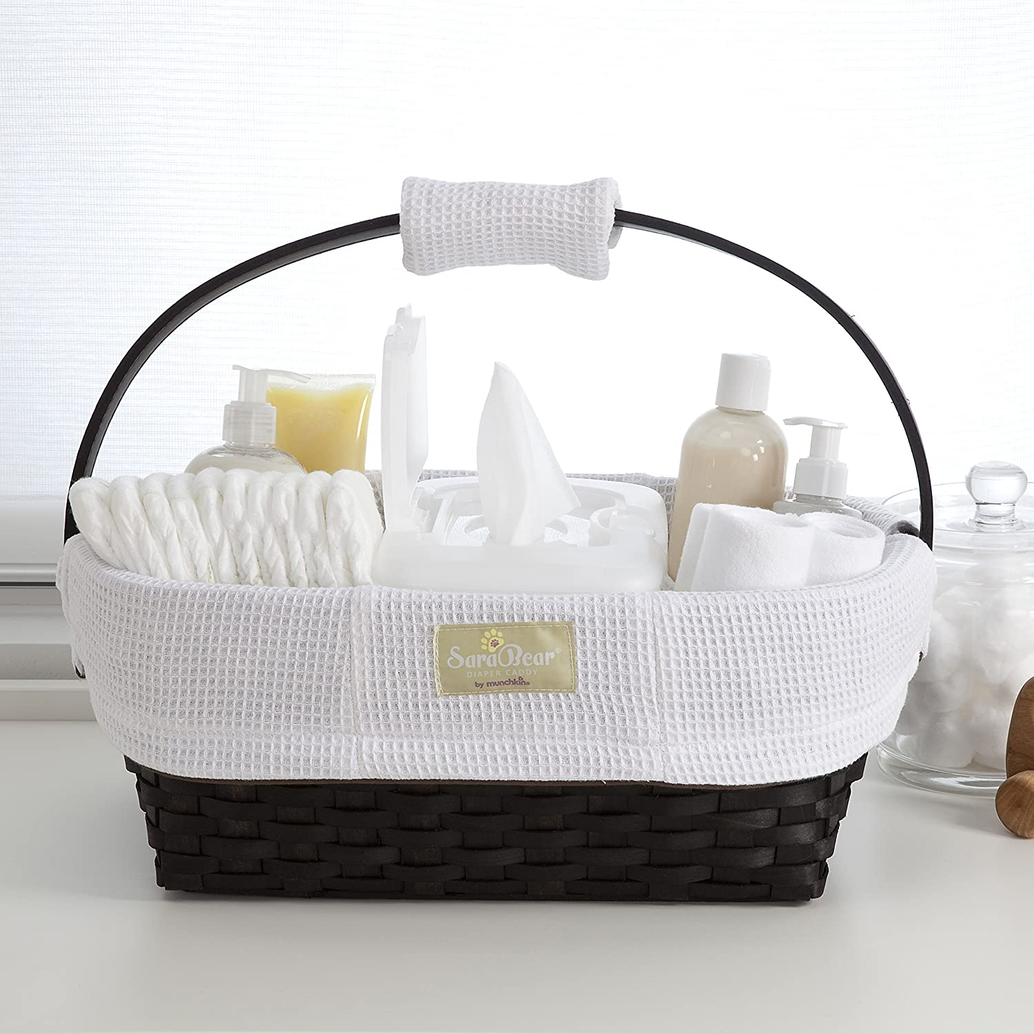 Amazon.com : Munchkin Portable Diaper Caddy, White : Nursery Storage  Containers : Baby