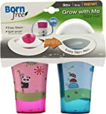 Born Free BPA-Free Grow with Me 10 oz. Sippy Cup, 2 Count, Girl
