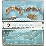 Fox Run 36036 Mustache Cookie Cutter Set, Tin-Plated Steel, 5-Piece