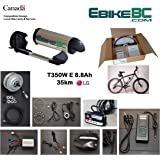 Ebike KIT 350/500W Electric Bicycle E Bike Complete Conversion Kit Front Hub Motor, Battery Li-Ion 32km/h LED 26/27.5/28/29/700C rim sizes (Bike not included)
