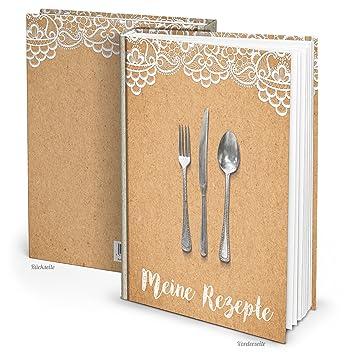 XXL Hard Cover Libro de Recetas Papel de estraza libro de cocina para Incluso escritura Cuchillo