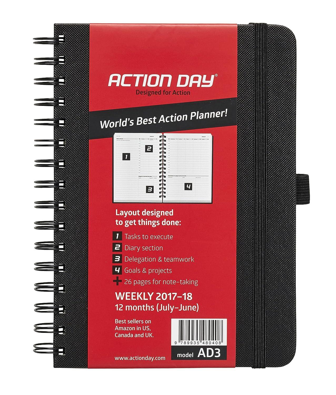Action Day - Agenda académica 2018-2019 – Con diseño de objetivos y tareas a realizar para aumentar la productividad – Agenda diario, semanal, ...