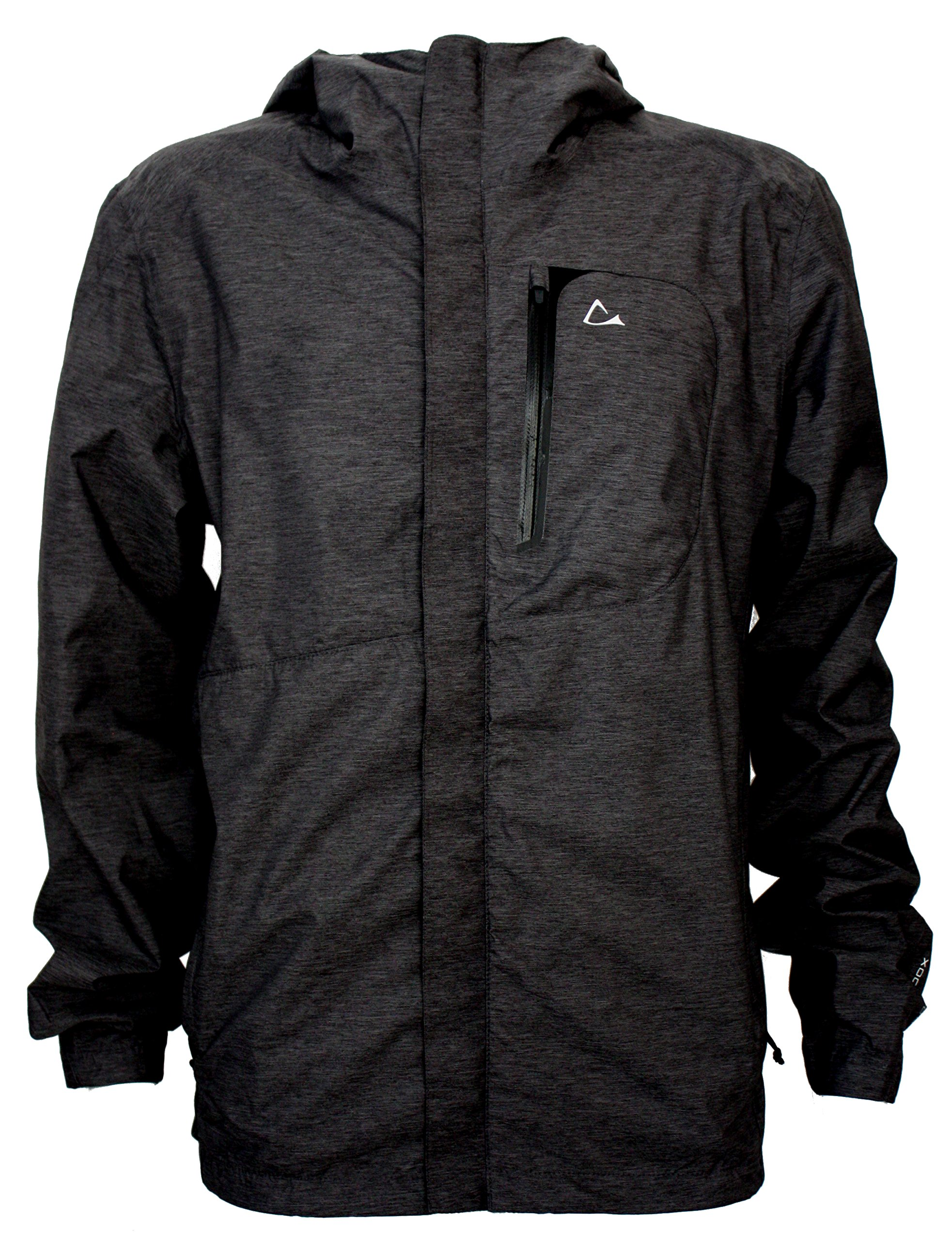 Paradox Mens Waterproof Breathable Rain Jacket Medium Black by Paradox