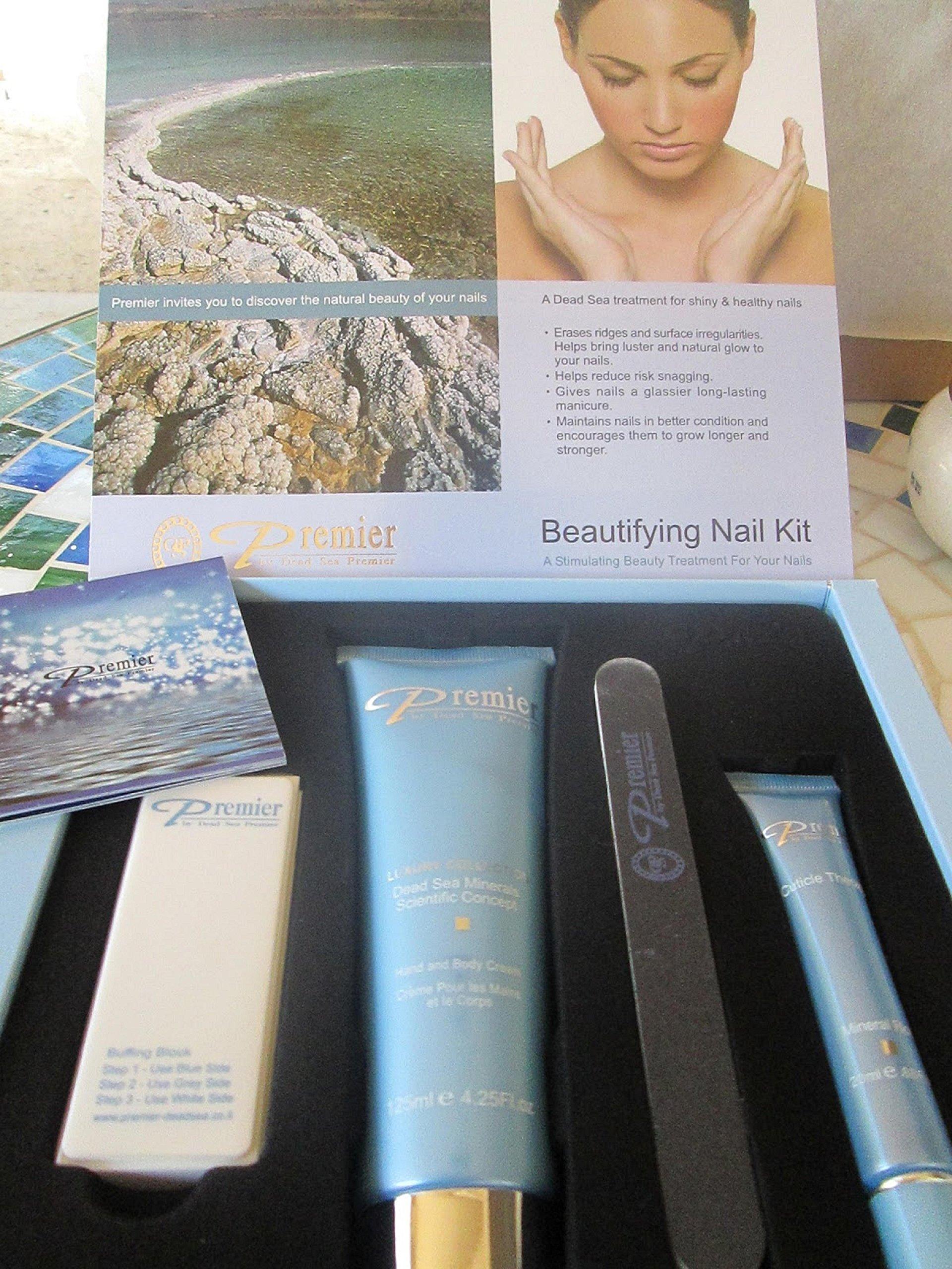Amazon.com : Premier Dead Sea New Beautifying Nail Kit, Passion ...