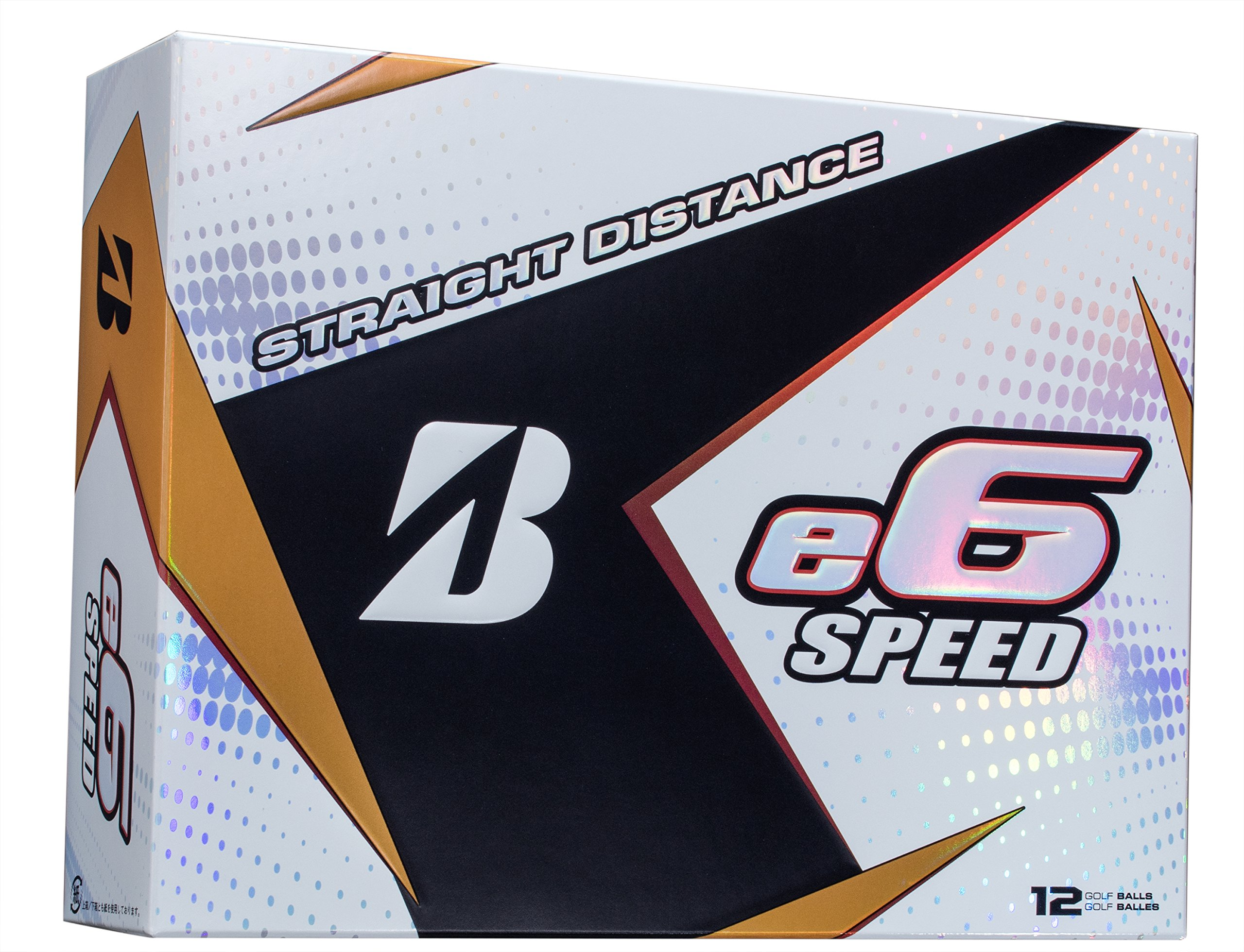 BRIDGESTONE GOLF e6 SPEED Golf Balls, White, High-Performance (Dozen Golf Balls) by Bridgestone Golf