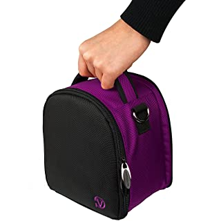 VanGoddy Laurel Plum Purple Carrying Case Bag for Leica SL-System/M-System/Q/APS-C System/X/Compact