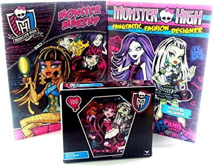 Monster High Makeup Sticker Book Fashion Designer Sticker Book And Puzzle Gift Pack Puzzles Amazon Canada