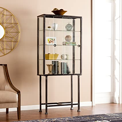 Exceptionnel Southern Enterprises AMZ4688ZH Metal/Glass Sliding Door Display Cabinet