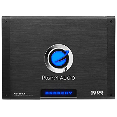 Planet Audio AC1600.4 4 Channel Car Amplifier - 1600 Watts, Full Range, Class A/B, 2-4 Ohm Stable, Mosfet Power Supply, Bridgeable: Car Electronics