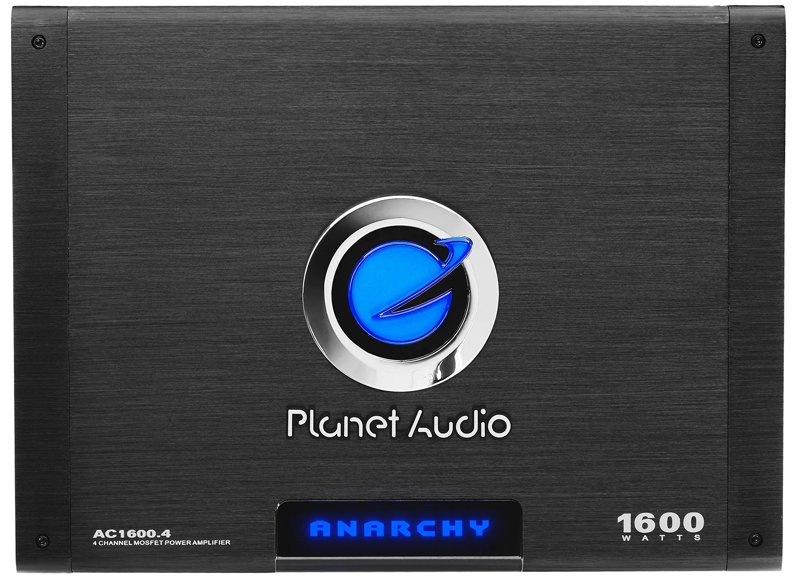 Planet Audio AC1600.4 Anarchy 1600 Watt, 4 Channel, 2/4 Ohm Stable Class A/B, Full Range, Bridgeable, MOSFET Car Amplifier with Remote Subwoofer Control