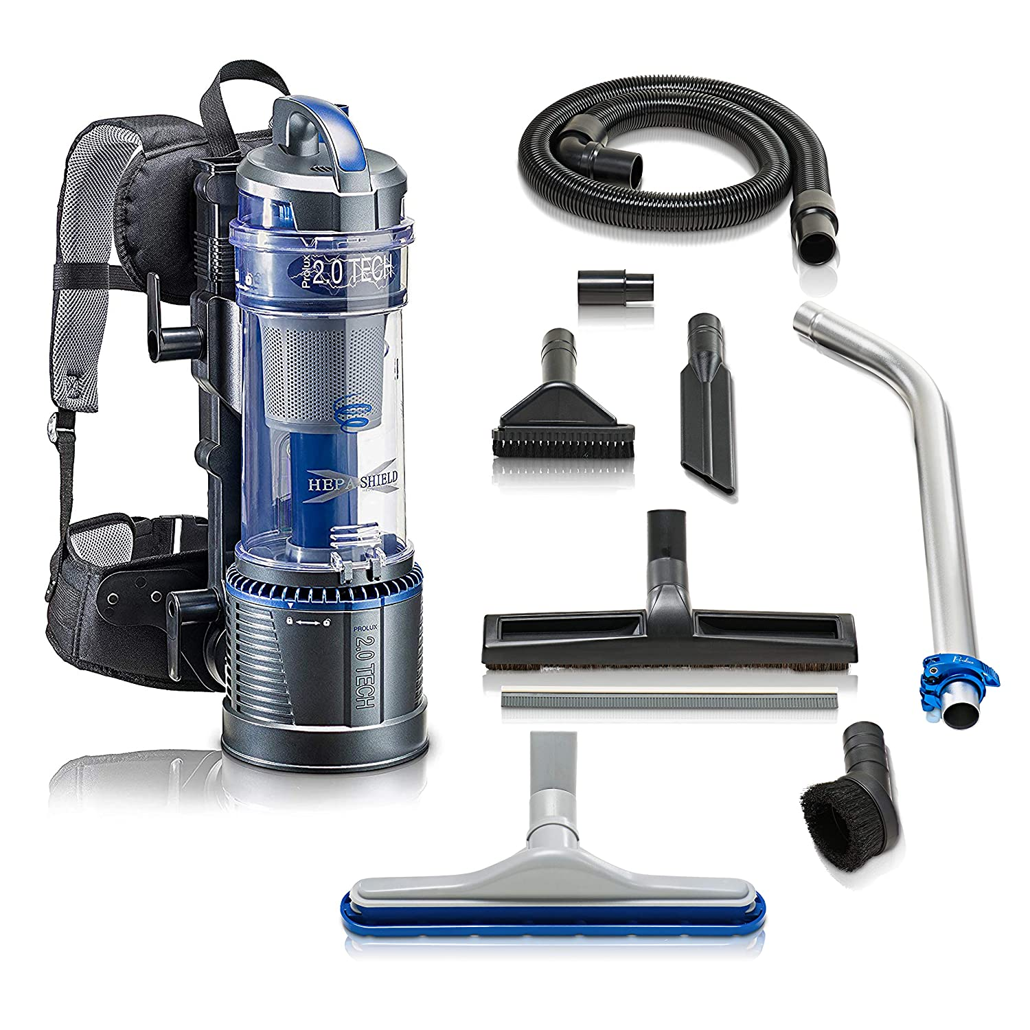 2019 Prolux 2.0 Bagless Backpack Vacuum with Deluxe 1 1/2 inch Tool Kit