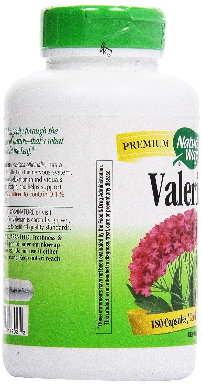 Natures Way Valerian Root, (Gelatin) Capsules 180 ea: Amazon.es: Salud y cuidado personal
